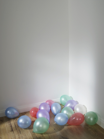 uncluttered: Party Balloons in a Corner
