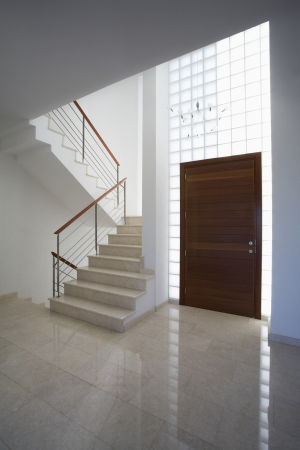 Cyprus entrance hall and staircase of contemporary house Stock Photo - 20715366