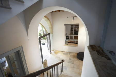 Cyprus view from staircase of hallway in restored antique town house Stock Photo - 20715368