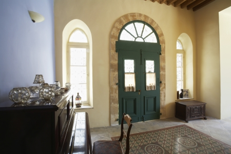 Cyprus Entrance hall of antique Mediterranean town house Stock Photo - 20715545