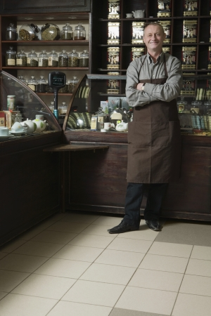 age 50 55 years: Tea Shop Owner in Store LANG_EVOIMAGES