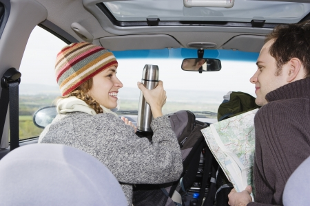 25 to 30 year olds: Young Couple on a Road Trip