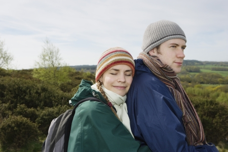 25 to 30 year olds: Young Hiking Couple Standing Together