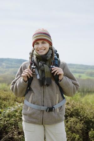 half length posed: Young Woman Hiking