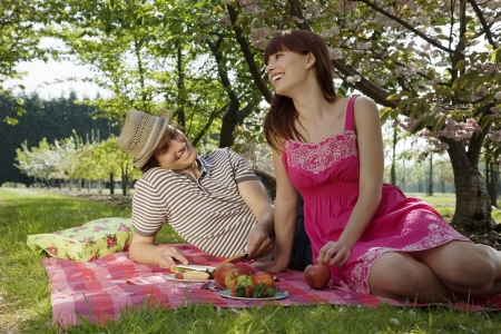 20 to 25 year olds: Young Couple Having a Picnic LANG_EVOIMAGES