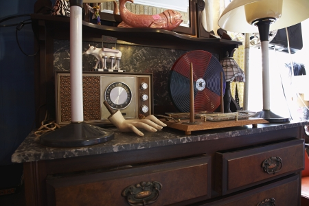 Vintage Collectibles in Second Hand Store Stock Photo - 20716267