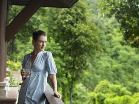 half length posed: Young Woman Beneath Veranda