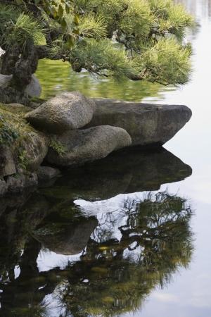 okayama: Pond in Korakuen Garden in Okayama