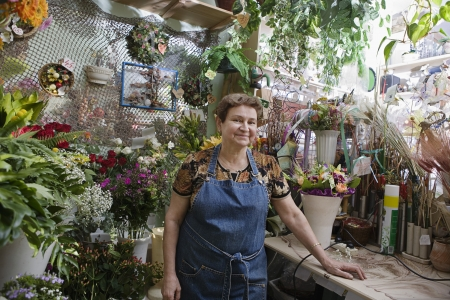 small business owner: Florist in Shop