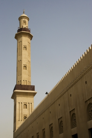 bur dubai: Dubai UAE minaret of Grand Mosque in Bur Dubai LANG_EVOIMAGES
