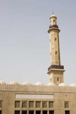 bur dubai: Dubai UAE minaret of Grand Mosque in Bur Dubai LANG_EVOIMAGES