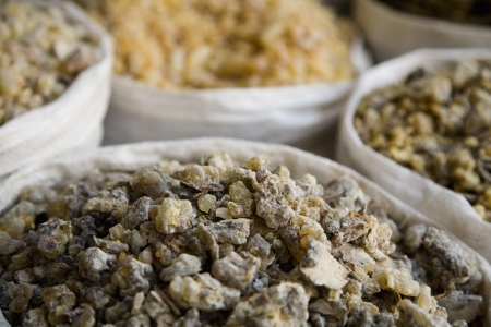 souq: UAE Dubai frankincense and other spices for sale in the spice souq in Deira LANG_EVOIMAGES