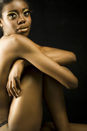 half nude: Nude Young Woman LANG_EVOIMAGES
