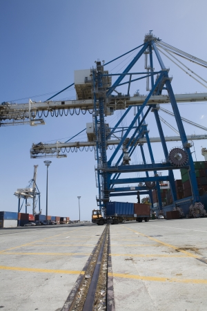 limassol: Limassol Cyprus Truck loaded with containers leaving seaport