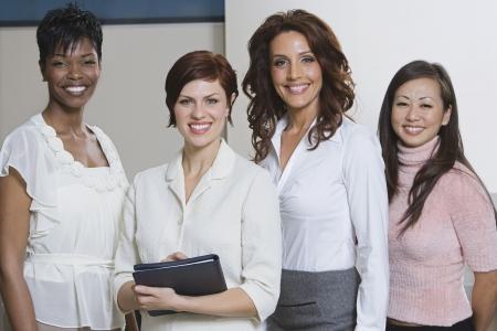 multi racial group: Multi Racial Group of Businesswomen Portrait