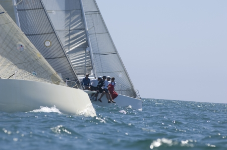 catamaran: Yachts compete in team sailing event California