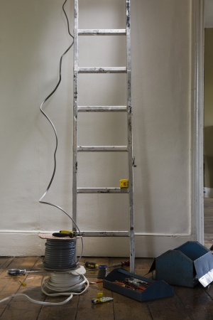 Ladder and tools in house Stock Photo - 20717201