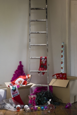 Ladder and boxes in house Stock Photo - 20717202