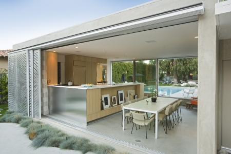 modern house exterior: Kitchen from outdoors