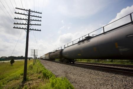 Illinois USA freight train in motion Stock Photo - 20739549