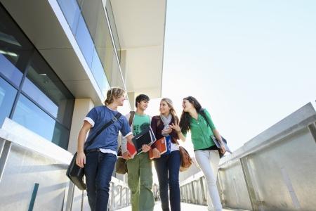 student university: University students on campus