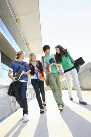 university text: University students on campus