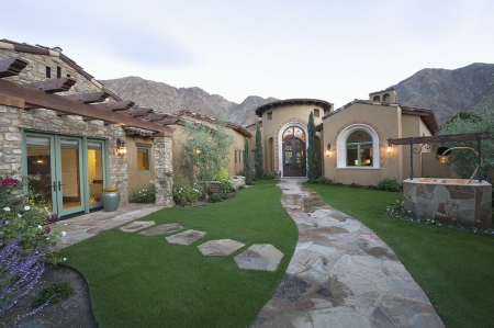 showhome: Paved pathway to Palm Springs home
