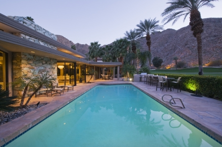 pool rooms: Swimming pool exterior of Palm Springs home LANG_EVOIMAGES