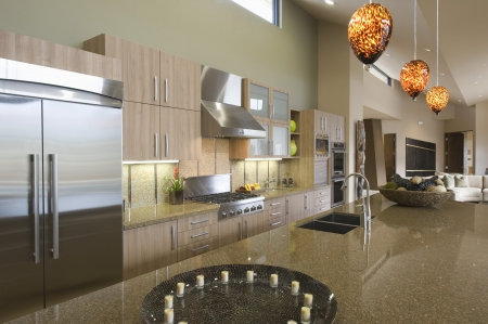 fitted unit: Kitchen worktop unit in Palm Springs home