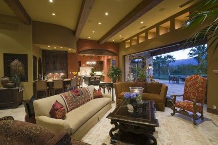 showcase interior: Seating area of Palm Springs living area