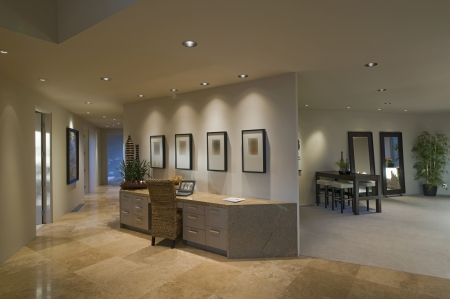 Partition desk in luxury Palm Springs home 写真素材