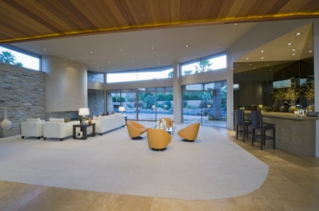 Spacious living inter of Palm Springs home Stock Photo - 20740074