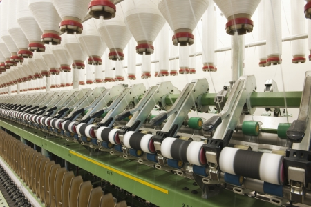 garment industry: Spinning factory machinery