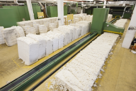 Spinning factory materials Stock Photo - 20740245
