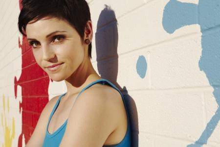 impish: Portrait of fashionable impish young woman