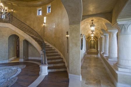 corridors: Palm Springs hacienda access corridors