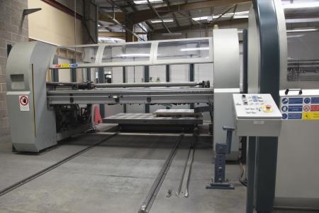 Loading platform for a Salvernini CAM sheet metal folding machine Stock Photo - 20740384
