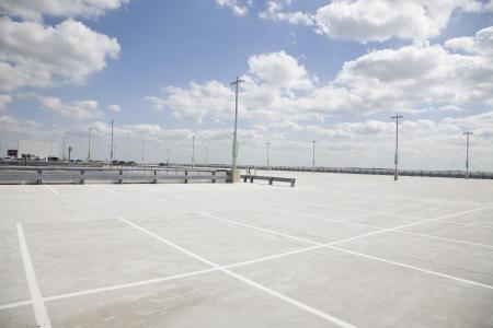 car park: Empty parking lot