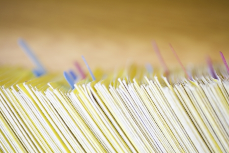 filing system: Colour coded filing system for folders