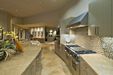 fitted unit: Architecturally designed kitchen and living area