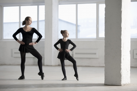 Female dancers with hands on hips 写真素材