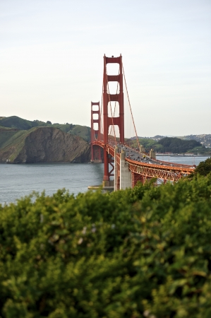 charles county: Curve of the Golden Gate Bridge view to Marin County