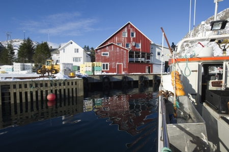 pitched roof: Fishing harbour in Norway LANG_EVOIMAGES
