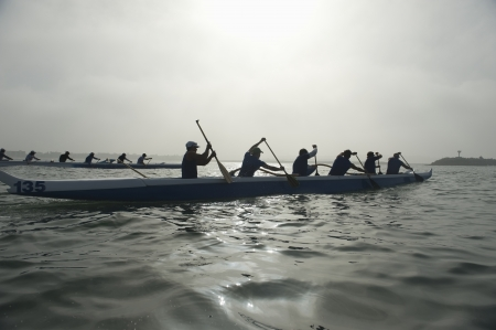 team sports: Outrigger canoeing team compete
