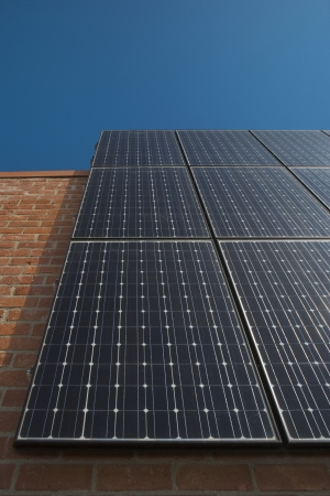 Photovoltaic array in Los Angeles California Stock Photo - 20741261