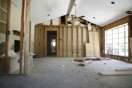 home renovation: Partition wall in house renovation Houston Texas