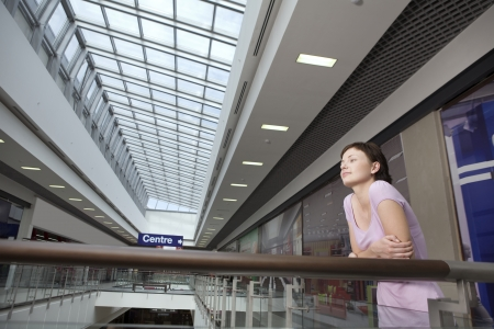 shopping centre: Young woman in shopping centre Voronezh