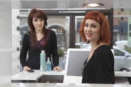 beauty products: Product sales in hairdressing salon