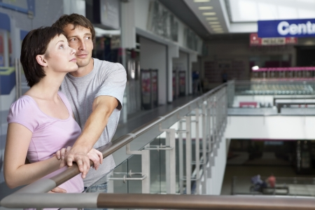 shopping centre: Young couple in shopping centre Voronezh