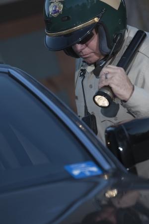 patrolman: Nightwatch patrolman with flashlight